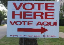 Vote Here Sign - Vote Aqui -